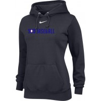 503 Baseball 22: Nike Team Club Women's Fleece Training Hoodie - Anthracite