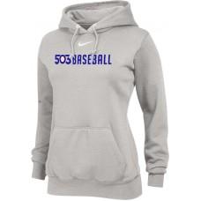 503 Baseball 19: Nike Team Club Women's Fleece Training Hoodie - Gray