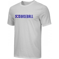503 Baseball 15: Adult-Size - Nike Combed Cotton Core Crew T-Shirt - Gray