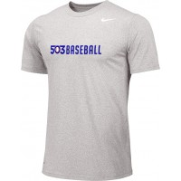 503 Baseball 04: Adult-Size - Nike Team Legend Short-Sleeve Crew T-Shirt - Gray