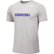 503 Baseball 05: Youth-Size - Nike Team Legend Short-Sleeve Crew T-Shirt - Gray